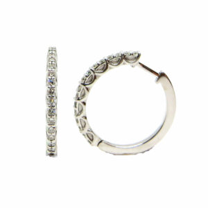 Prima Lux diamond hoops