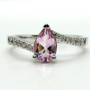 Prima Lux Pink morganite and white gold ring