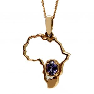 Prima Lux Rose gold Africa pendant