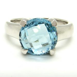 Prima Lux blue topaz ring
