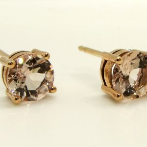 Prima Lux Morganite rose gold studs