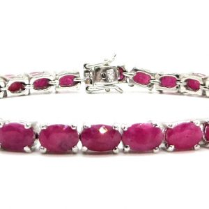 Prima Lux Natural ruby tennis bracelet
