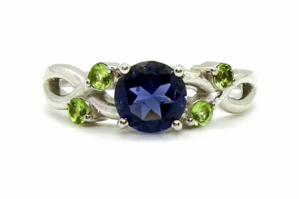 Prima Lux iolite and peridot ring