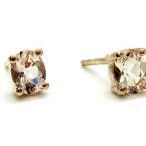 Prima Lux Morganite rose gold studs