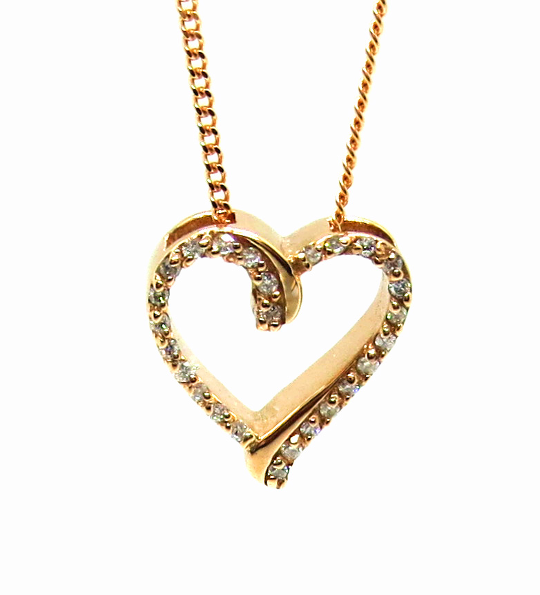 Prima Lux diamond heart pendant