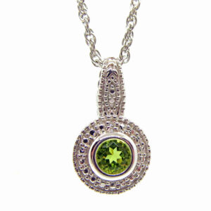 Prima Lux Peridot pendant and chain set