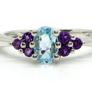 Prima Lux topaz and amethyst ring
