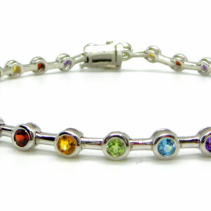 Prima Lux Multi gemstone tube set bracelet
