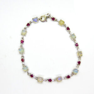 Prima Lux Moonstone and garnet bracelet