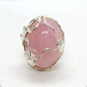 Prima Lux rose quartz dress ring
