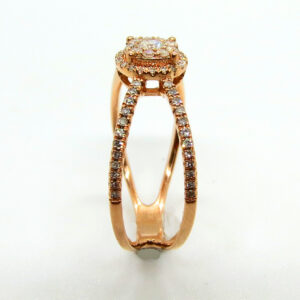 Prima Lux Diamond and rose gold ring